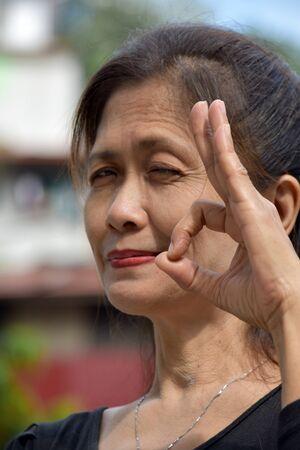 An Ok Female Senior Gramma