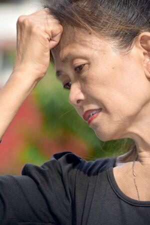 A Depressed Female Senior