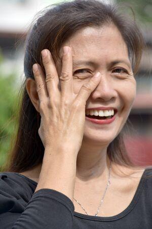 A Timid Female Senior Stock fotó