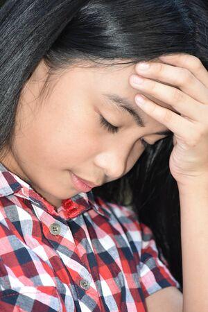 A Young Girl And Failure Stok Fotoğraf - 129898196