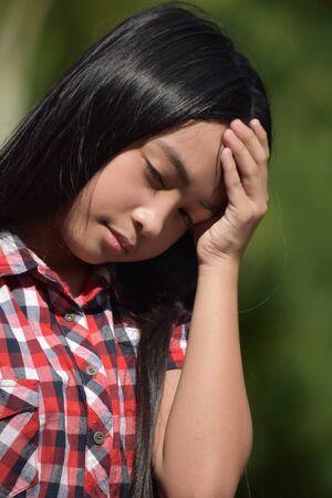 A Depressed Female Juvenile 写真素材 - 129898731