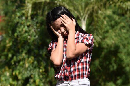 A Child Under Stress 写真素材