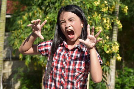 An Intimidating Filipina Person