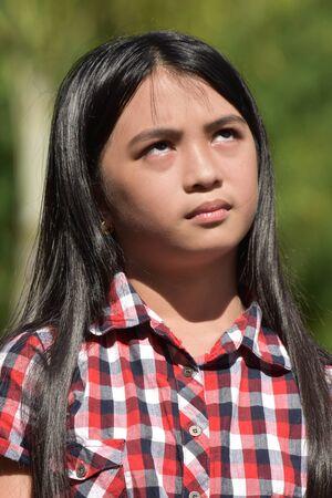 An Apathetic Girl Youth Banco de Imagens