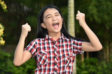 A Proud Beautiful Asian Girl Child 스톡 콘텐츠