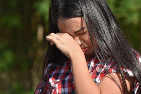 A Tearful Girl Youth