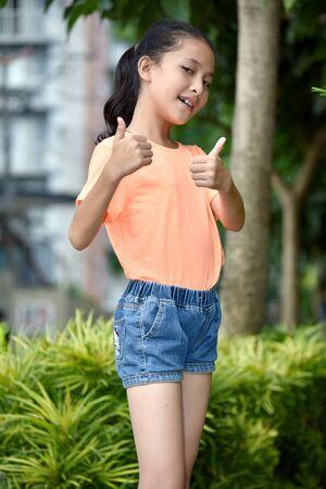 A Proud Youthful Filipina Person 스톡 콘텐츠