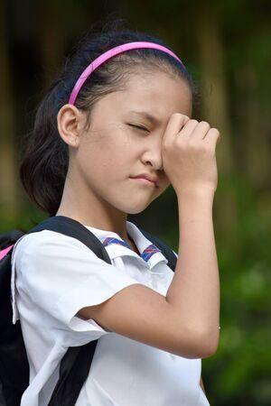 An A Tearful Female Student