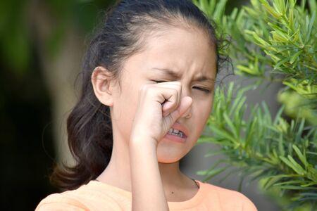 A Tearful Beautiful Filipina Person