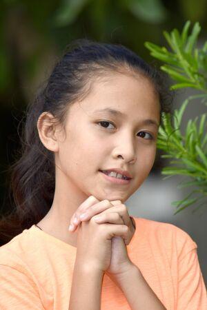 A Youthful Minority Juvenile Praying