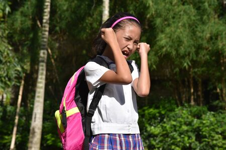 A School Girl And Anger