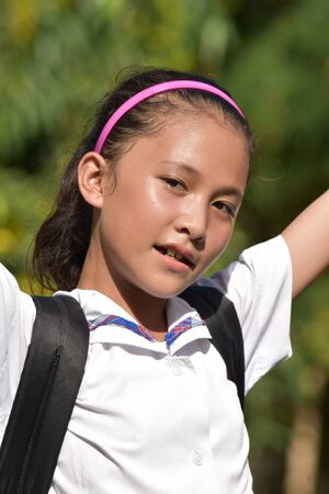 A Diverse School Girl And Freedom Stockfoto