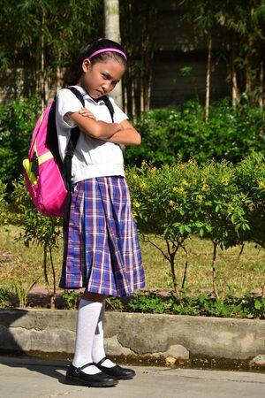 An A Stubborn School Girl