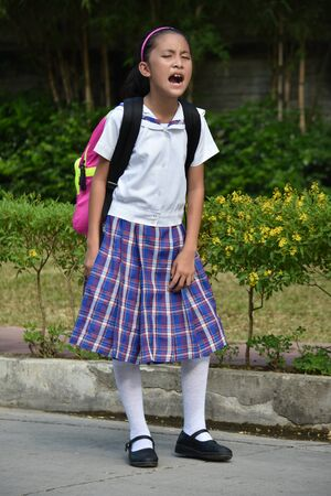 A Stressed Catholic Person Wearing Uniform 写真素材