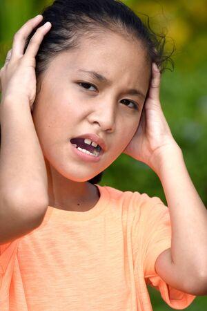 A Teen Girl Under Stress