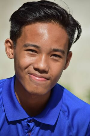 Good Looking Asian Teen Boy And Happiness