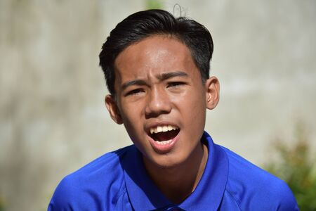 An Upset Young Filipino Person