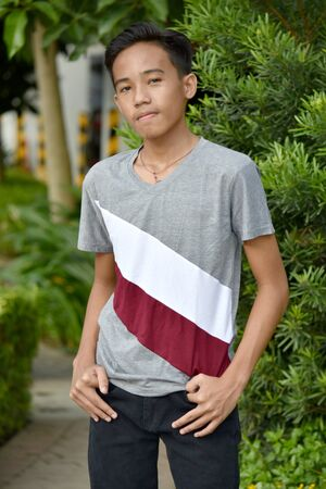 A Teen Boy And Confidence Stock Photo