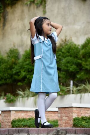 A Girl Student Dancing Imagens