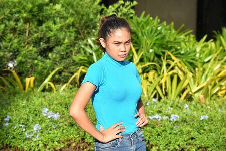 A Youthful Asian Female Posing