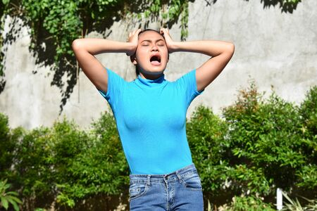 An Attractive Filipina Female Under Stress
