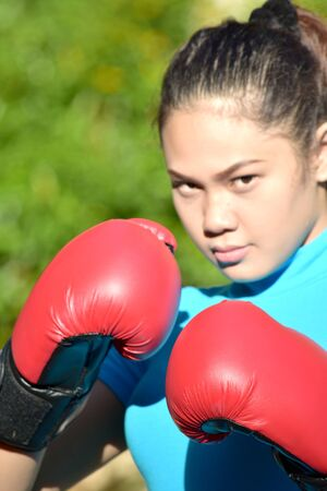 An An Unemotional Female Boxer