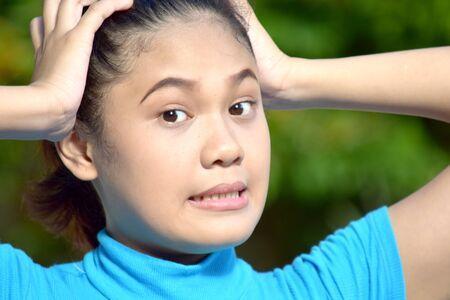 Young Filipina Female And Memory Loss