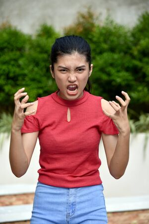 An Angry Youthful Minority Girl