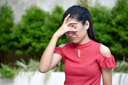 A Filipina Girl And Anxiety