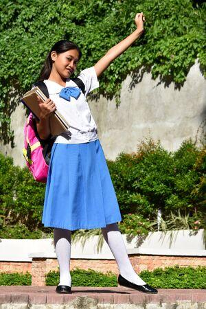 Student Teenager School Girl And Happiness Stockfoto