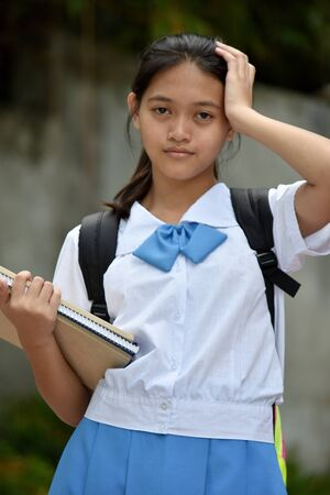 A Forgetful Student Teenager School Girl