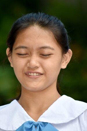 A Stressed Youthful Filipina Person