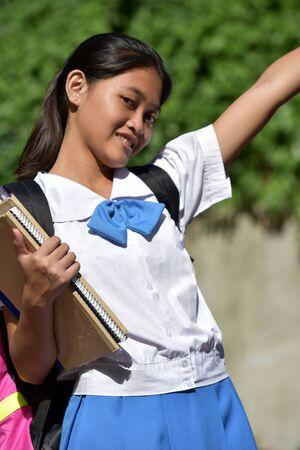 A Happy Cute Filipina Female Student