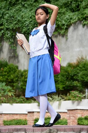A Teen Student School Girl Wondering