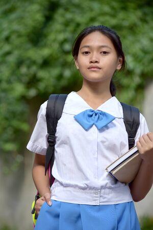 An An Unemotional Filipina Girl Student