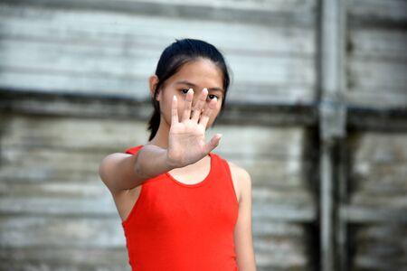 Youthful Asian Teenage Female And Abuse