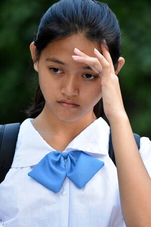 An An Anxious Female Student