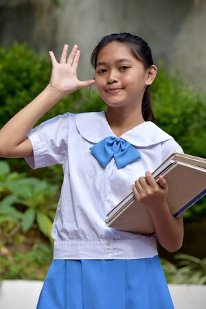 An A Silly Filipina School Girl