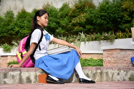 A Girl Student Wearing Skirt