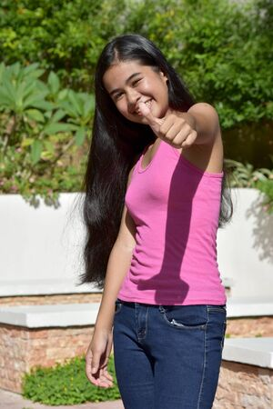 An A Proud Filipina Girl Youth Stock Photo