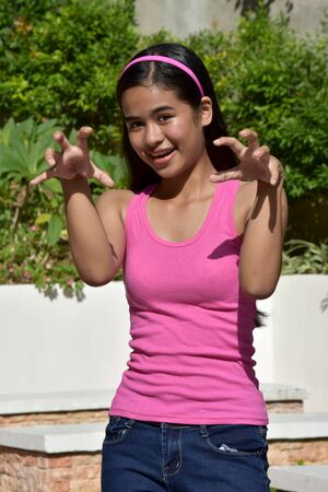 An An Intimidating Minority Teenager Girl