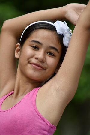 An A Dancing Cute Filipina Female