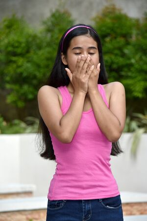 An A Startled Filipina Girl Youth