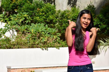 A Teen Girl Having Fun