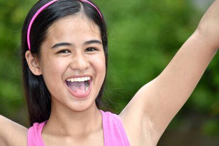 An A Successful Filipina Teenage Female