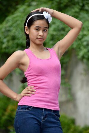 A Cute Asian Female Posing