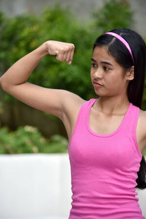 An A Toned Filipina Teenager Girl