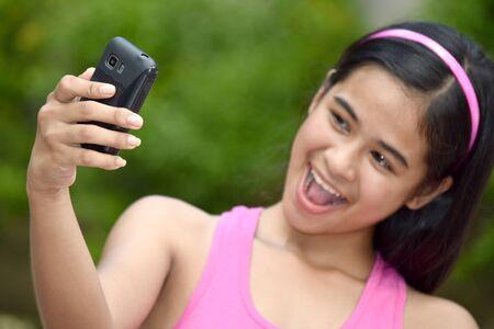 An A Beautiful Filipina Youth Selfie