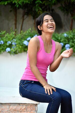 An A Filipina Girl Teenager Laughing