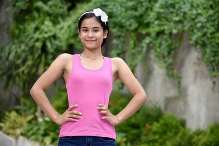 A Beautiful Filipina Girl And Confidence